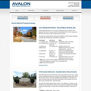 Avalon Real Estate Partners Website