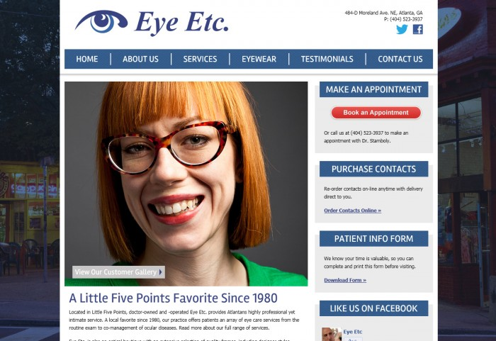 Eye Etc. Homepage