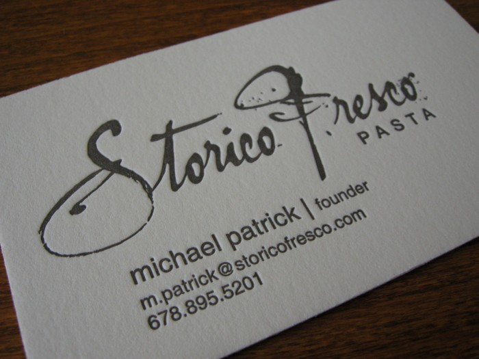Storico Fresco Business Card