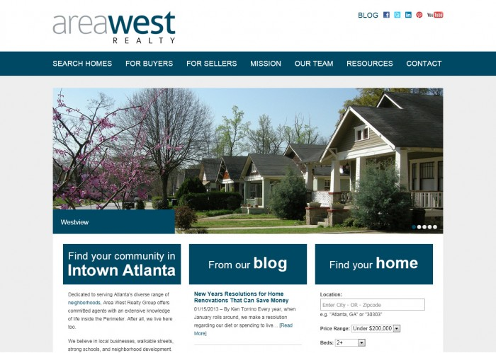 Area West Realty Website