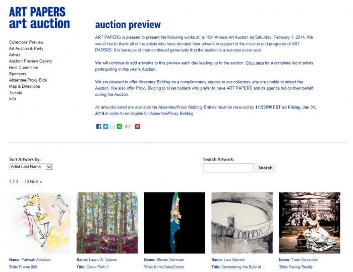Art Papers Art Auction Website