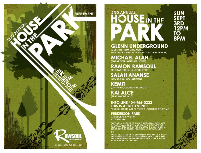 2nd Annual House in the Park Flyer