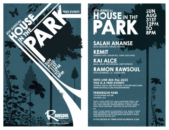 4th Annual House in the Park Flyer