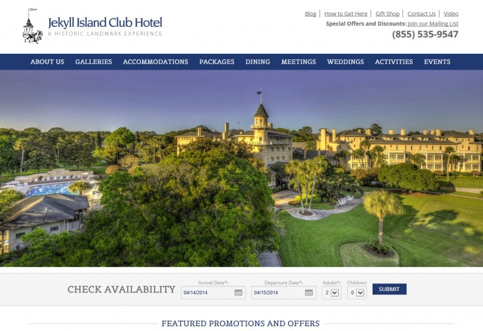Jekyll Island Club Hotel Homepage
