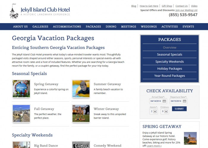 Jekyll Island Club Hotel Internal Page