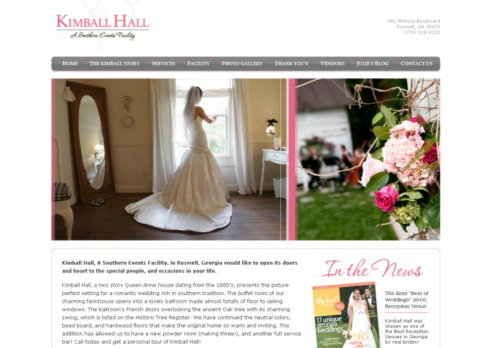 Kimball Hall Website