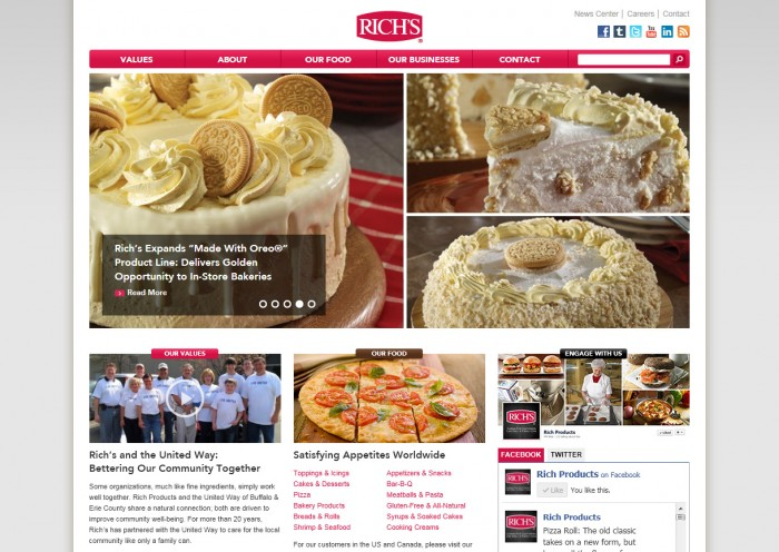 Rich Products Corporation Homepage