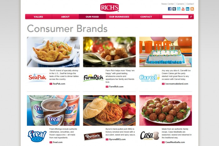 Rich Products Corporation Internal Page