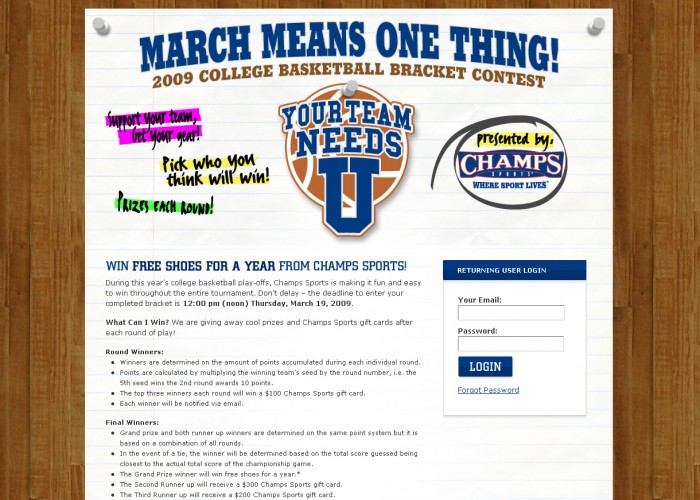 2009 College Basketball Bracket Contest