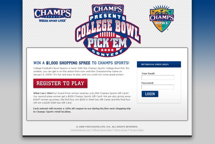 2008 College Bowl Pick 'em Contest