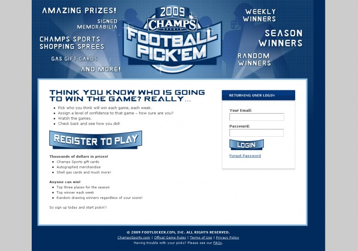 2009 College Bowl Pick 'em Contest