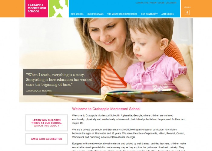 Crabapple Montessori School Homepage