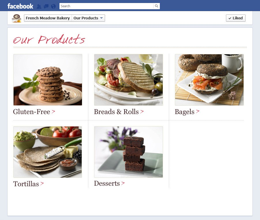French Meadow Bakery Facebook Products