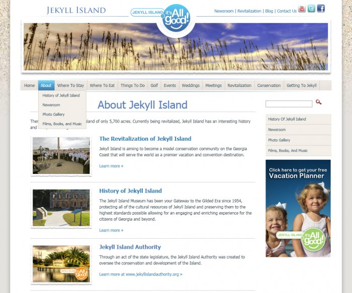 Jekyll Island Website Internal